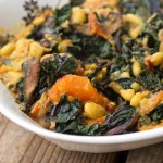 Curried White Bean Stew with Kale and Mushrooms
