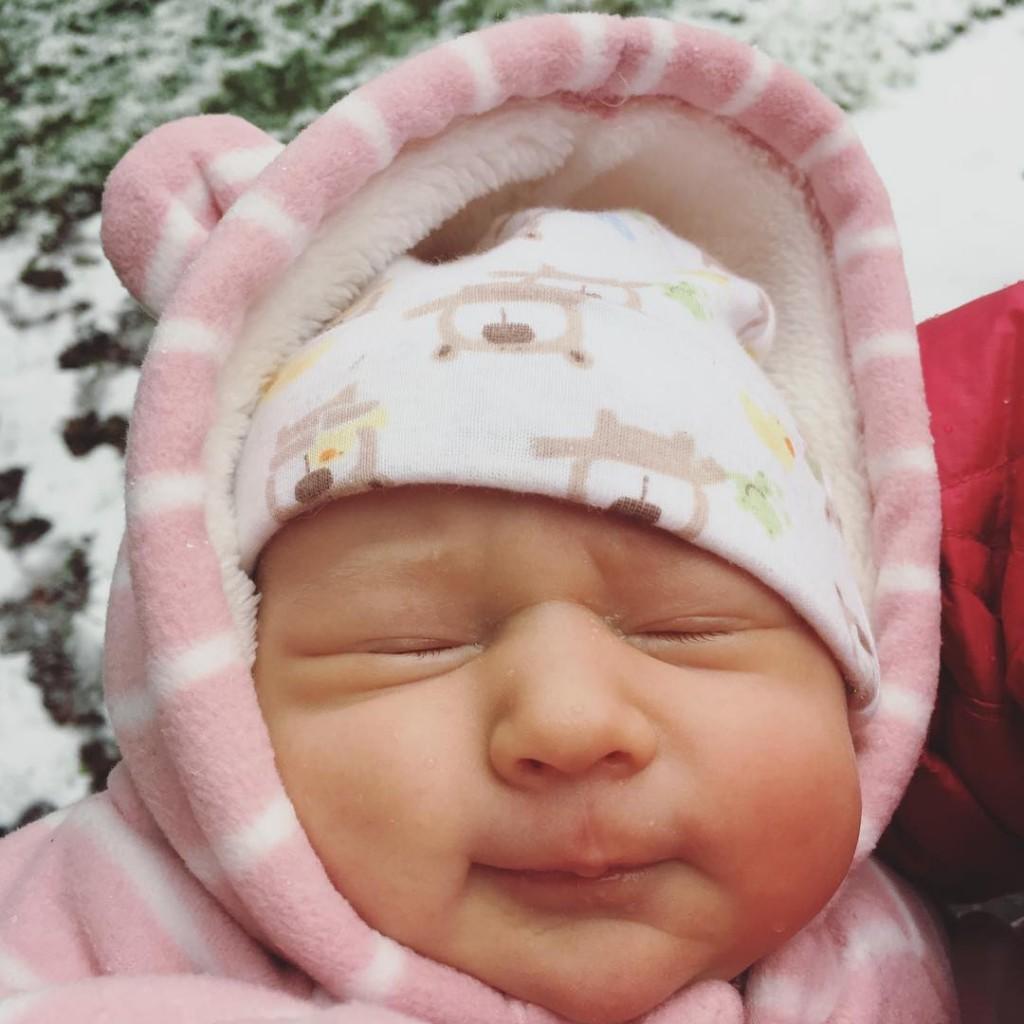 Babys first snow!