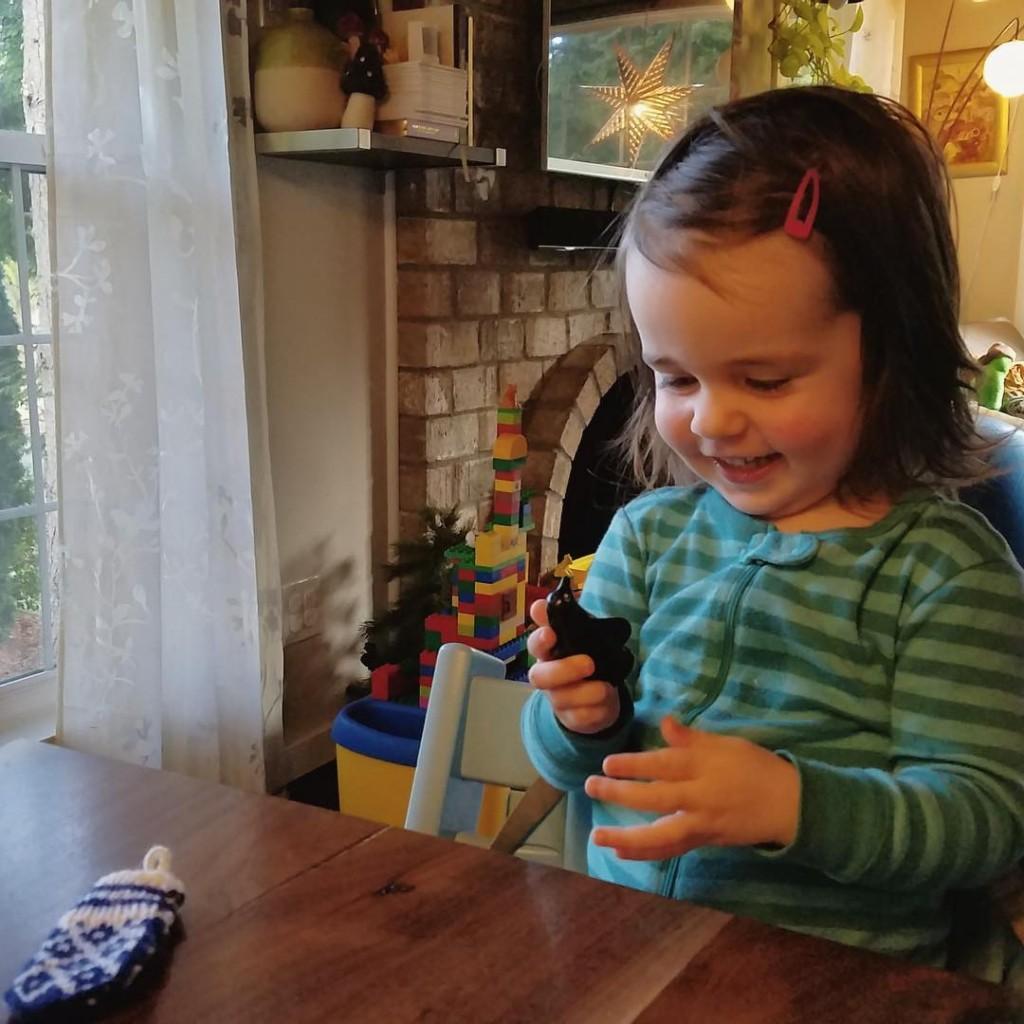 Grandma knit 24 teeny tiny mittens and pappa put onehellip