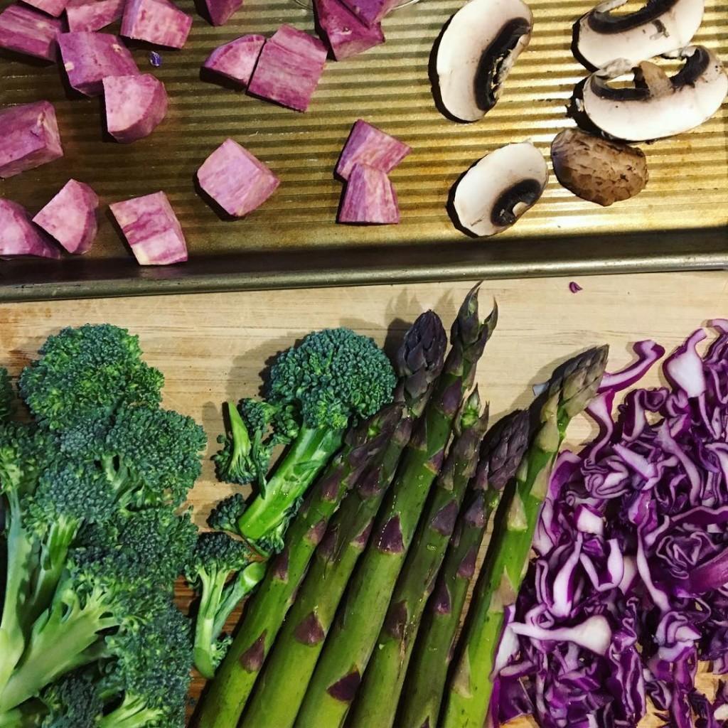 Green amp purple lunch prep